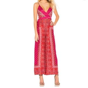 Gorgeous Free People Jumpsuit Pink Combo New Sz 6